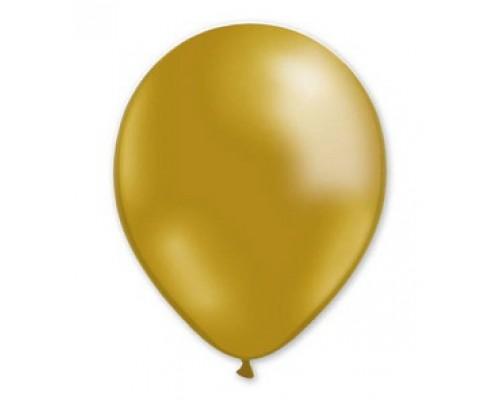 """Воздушные шары Металлик золотой 12"""" 1шт."""