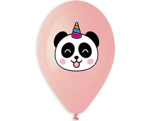 """Воздушные шары Панда-Единорог 14"""" 5 цветов 1шт."""