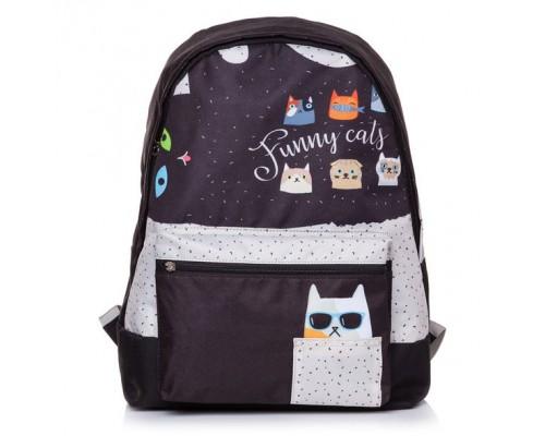 Рюкзак BASIC Funny cats для девочки, старшая школа