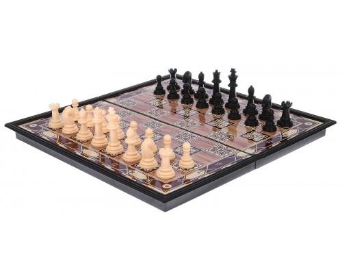 Шахматы поле с узором, 9х17.5 см 2996841
