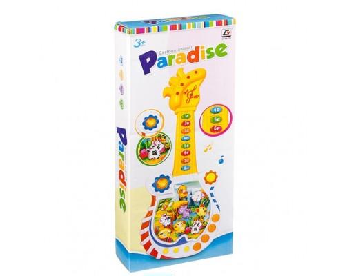 Гитара на бат.со светом,звук. животн.,Paradise, BOX 43,5x18,5x5,5 см,CY-6077B
